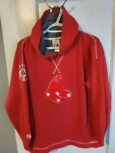 Majestic Boston Red Sox Kids Hoodie Sweatshirt Red Youth Size 14/16
