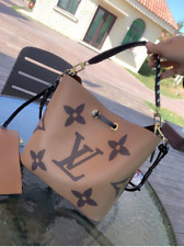 LOUIS VUITTON brown leather hand bag for women shoulder bag