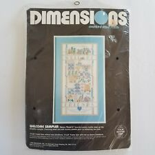 Dimensions Welcome Sampler Kit 3656 Cross Stitch Nancy Rossi Motif Vintage 1988