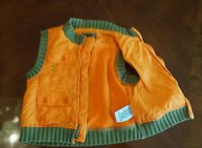 Dkny baby boys  orange 12m vest jacket light weight