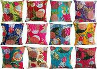 10 PC Indian Cotton Cushion Sofa Pillow Cover Ethic Bedroom Hippie Cushion Cover