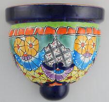 Mexican Ceramic Wall Hanging Planter Folk Art Sconce Handmade Mexico # 13