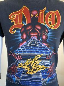 DIO Ronnie James Dio Original Vintage 1984 Last In Line Tour Metal T-Shirt Arena