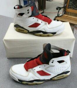 Nike Jordan Flight Club 91 White Black Red Men's Athletic Sneakers Size 10