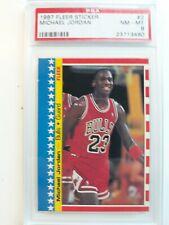 1987 Fleer Sticker #2 Michael Jordan Psa 8! Bulls. Check out my other items !