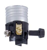 ON/OFF ~ Turn Knob ~ E26 Standard LAMP SOCKET ~ NEW INTERIOR & INSULATOR
