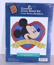 I Love Mickey Disney Counted Cross Stitch Kit 36002