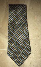 Mondo di Marco Rectangle Watercolor Tie LONG Bronze Silk Necktie Italy