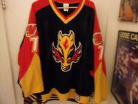 Calgary Flames?. Minor League Hockey Jersey # 7 McNeely Size Man Small