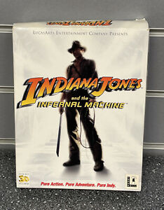 INDIANA JONES AND THE INFERNAL MACHINE - BIG BOX PC GAME WITH ADVENTURE GUIDE