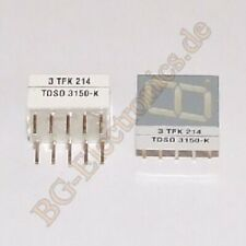 1 x TDSO-3150K Standard 7-Segment Orange red Display 10 mm TFK DIP-10 1pcs