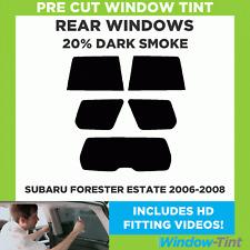 SUBARU FORESTER ESTATE 2006-2008 20% DARK REAR PRE CUT WINDOW TINT