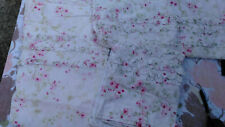 Simply Shabby Chic Pink Shower Curtain-3 Rows of Ruffles-100% Cotton 3 available