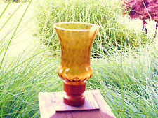 Home Interior Lot of 8 Amber Swirl Glass Votives