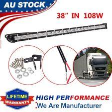 "38""108W Ultra Slim Cree LED Work Light Bar Single-row Spot Flood Offroad ATV SUV"