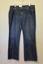 Jones New York Sport Jeans 18 Blue Dark Wash Stretch Flare Leg Cotton Blend NEW