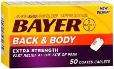 Bayer Back - Body Extra Strength Caplets 50 Caplets