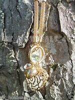 Stunning Gold Silver Heart Long Necklace Pendant Rose Heart Cubic Zirconia Gift