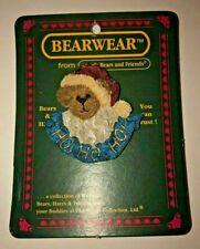Boyds Bears & Friends Bearwear Jolly Ol St Nick Ho Ho Ho '95 #26049 Handmade Pin
