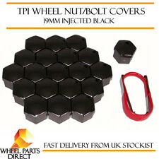 TPI Injected Black Wheel Bolt Nut Covers 19mm for Fiat Bravo [Mk1] 95-02