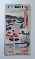 Los Angeles Road Map American Oil Vintage