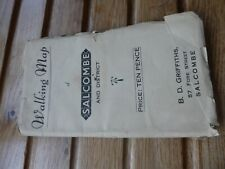 old walking map Salcombe and District -Griffiths 57 Fore Street