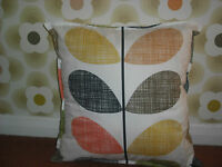 VARIOUS  handmade cushion cover in orla kiely quilting fabric16x16ins
