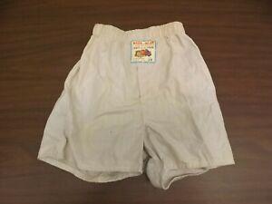 Fruit of the Loom Vtg 1950s NEW Boys Sz 10 Sanforized Cotton Boxers Underwear