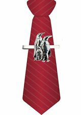 CodeB43 Penguins on a Tie Clip Ties slide Pewter Jewellery Bar Suit
