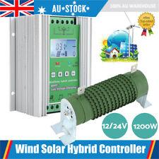 AU 12/24V PMW 1200W Wind Solar LCD  Charge Controller 800W Wind+400W Solar