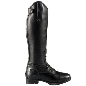 A151- Horze Rover Synthetic Leather Leg Comfort Children Tall Field Boots Black