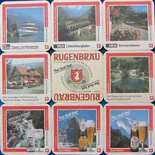 Bierdeckel Serie Sammlung - Schweiz - Rugenbräu Interlaken - 8 verschiedene