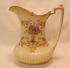 Crown Ducal Ware England Early Blush Ivory LOUIS A365 Pattern Lidded Pitcher