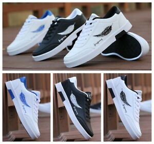 Fashion Men's Shoes Leather Casual Canvas Board Sneaker Flat Slip On Hot Shoes#2