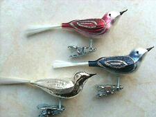 Vögel Feder weiß matt Christbaumschmuck Lauschaer Glas das Original