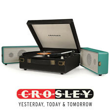 Crosley SNAP 3 Speed Portable Turntable Record Player With Speakers Turquoise