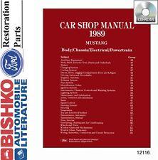 1989 Ford Mustang Shop Service Repair Manual CD Engine Drivetrain Electrical OEM