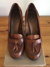 Bertie Tan Leather Women's Heels UK 6 EU 39