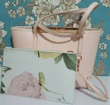Ted Baker pink leather medium shoulder tote bag