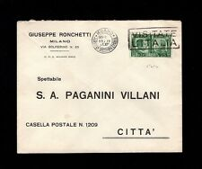 WWII Italy Hitler Mussolini War Alliance Milano 1941 G Ronchetti Cover 5s