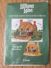 Anchor 14 Count Cross Stitch Lilliput Lane Marigold Meadow Cottage 20 x 27 cm