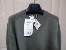 BARBOUR-  D671 FINE KNIT SWEATER -WOOL-V NECK-NEW OLD STOCK W/TAGS-MADE@UK-50-