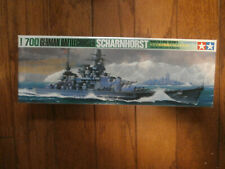 Vintage TAMIYA 1/700 Waterline SCHARNHORST German WW2 Battlecruiser Kit No. 118