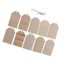 10x Wooden Label Unfinished Rectangle Shape Wood Gift Tags for Wedding Party