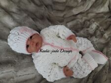 Knitting Instructions #109 - 4 Piece Cardigan Set for 0-3m Baby/Reborn 18-20in