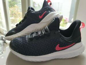 Nike Renew Rival ladies trainers in black/pink - size uk 4 very clean