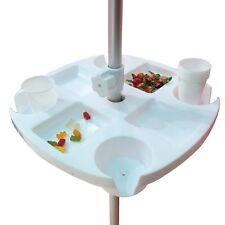 Tavolo Tavolino Vassoio 8 Vani Fisso per Ombrellone 43 x 43 cm Porta Bicchieri