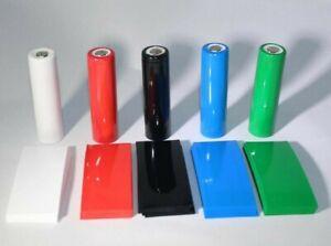 18650 Heat Shrink Wraps 60 pcs PRIME Mix PVC Cell 'Pick a Color'
