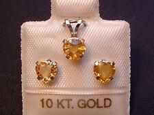 Gelbe Saphire - Schmuckset - 1,8 ct. - 10 Kt. Weißgold 417 - Ohrringe & Anhänger