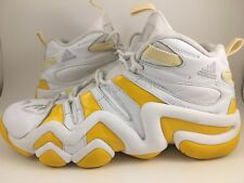 best website 4c024 cf311 Adidas Crazy 8 Mens Basketball Shoes Size 13 White Yellow Athletic 466957  Rare